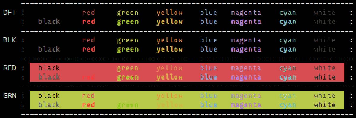 Terminal Farben